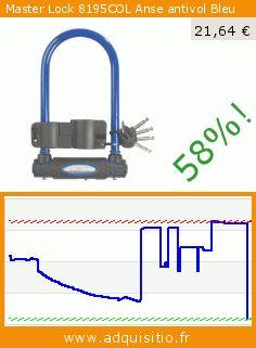 Master Lock 8195COL Anse antivol Bleu (Sport). Réduction de 58%! Prix actuel 21,64 €, l'ancien prix était de 52,07 €. https://www.adquisitio.fr/master-lock/8195col-anse-antivol-bleu