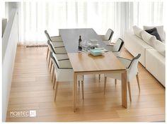 KENZIE +A fauteuil de salle à manger proposé en piétement bois mais aussi disponible en piétement métal.  Existe en version unicolore ou bicolore comme sur la photo...