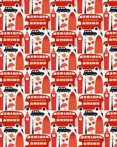 London Gift wrap by Debbie Powell | Lagom Design
