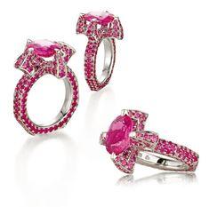 Bretterbauer Juweliere - Unique - Pink Saphir Ring Saphire Ring, Pink Sapphire Ring, High Jewelry, Heart Ring, Diamonds, Gems, Metal, Unique, Color Stone