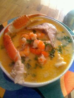 Sea food Soup.  Honduras's Style