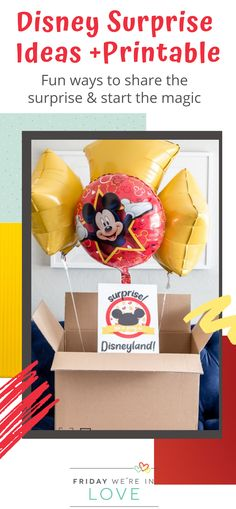 Disney Surprise Ideas + We're Going to Disney Printable A free surprise we're going to Disneyland printable with a Disney World version too! You'll love surprising your kids with this list of creative Disney trip surprise ideas! Disney World Birthday, Disneyland Birthday, Disneyland Christmas, Disney World Christmas, Disneyland Trip, Disney World Trip, Disney Trips, Disneyland Secrets, Disney Vacation Surprise