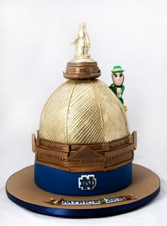 Notre Dame College Football Sports Grooms Cake Wedding Topper  more at Recipins.com