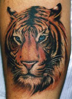Tiger Color Tattoo by Phil Colvin #tattoo #tattoos #Ink #tiger #tigertattoo http://tattoopics.org/tiger-color-tattoo-by-phil-colvin/