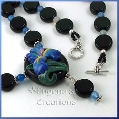 Blue Iris Necklace, Polymer Clay | Flickr - Photo Sharing!
