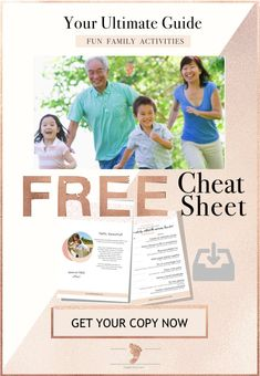 Your ultimate family activity guide: enjoy family time together with these simple, inexpensive but super-fun activities this Summer. Find it atgrandmasplace.com along with a free fun activities cheatsheet.