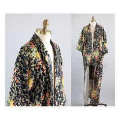 1940s Floral Rayon Kimono Traditional by waywardcollection on Etsy