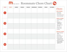 Roommate Cleaning Schedule Apartments