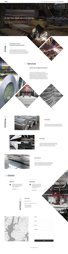 Template 57716 - Steel Industrial  Responsive Landing Page Template