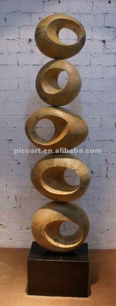 Arte de madera bosque and google on pinterest - Esculturas de madera abstractas ...