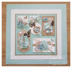 Blue Rose Paper Treasures: Positive Thoughts Home Decor Frame 3d Paper Crafts, Paper Art, Paper Crafting, Diy Crafts, Collage Frames, Collages, 3d Frames, 3d Rose, Scrapbooking