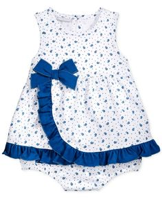 First Impressions Baby Girls' Ditsy Sunsuit
