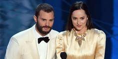 Dakota Johnson and Jamie Dornan Awkward Moment at the Oscars