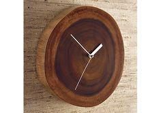 wood plinth clock — ACCESSORIES -- Better Living Through Design