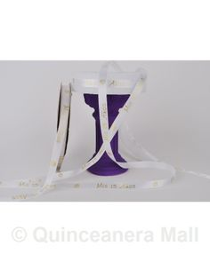 """Quinceanera Mall - 3/8"""" Mis Quince Anos Ribbon #RIB13"""