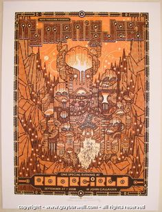 2008 My Morning Jacket - Troutdale Concert Poster by Guy Burwell