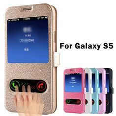 Luxury S5 Flip Silk Leather Back Cover Case For Samsung Galaxy S5 I9600 Phone Bags Cases For Galaxi S5 With Stand Design Cell Phone Pouch Personalized Cell Phone Cases From Haifengstore0319, $15.08| Dhgate.Com