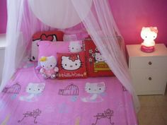 Kids Bedroom Decorating Ideas with Hello Kitty Bedding Sets Picture