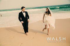 Beach weddings, beach wedding, bride and groom at beach, trash the dress, bodas en playa  www.photowalsh.com
