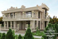Дизайн проект экстерьера фасада дома в классическом стиле. Фото 2017 - Дизайн экстерьера