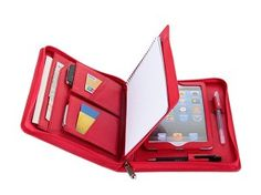 iPad mini Leather Portfolio Case with Notepad for Apple iPad mini Business Carrying