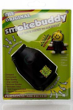 Smokebuddy Original Personal Air Filter - Black Car Travel, Air Filter, Filters, Lunch Box, Cleaning, The Originals, Smoking, Design, Black