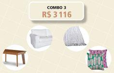 Mobilie a sala: quatro combos com sofá, almofada, tapete e mesinha - Casa
