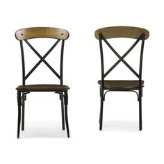 Shop Baxton Studio  CDC222-DS2-2pc Broxburn Dining Chair (Set of 2) at ATG Stores. Browse our dining chairs, all with free shipping and best price guaranteed.