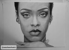 How to Draw Rihanna realistic Pencil and Charcoal Portrait - Eye, Skin, . Paper Drawing, Paper Art, Rihanna Drawing, Pencil Portrait Drawing, Wind Sculptures, Charcoal Portraits, Photorealism, Look Fashion, Art Blog