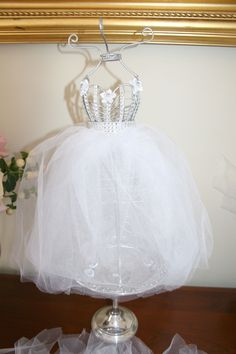 Bridal Shower Centerpiece, Dress Form