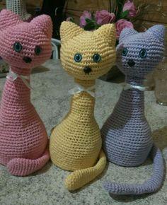 Cute Crochet, Crochet Toys, Crochet Baby, Knit Crochet, Easy Crochet Patterns, Knitting Patterns, Cute Toys, Cat Pattern, Crochet Accessories
