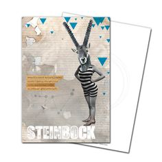 Gruß- und Postkarte: Steinbock