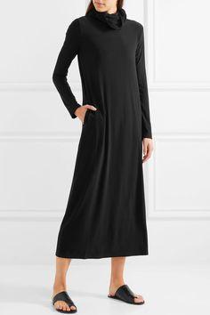 Norma Kamali - Stretch-jersey Turtleneck Midi Dress - Black