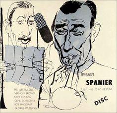 Muggsy Spanier and His Orchestra, Label: Disc DLP ??? (195?). Illustration: David Stone Martin.