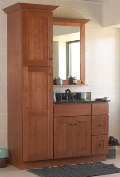 like this idea for storage in a small space sturbridge vanities shaker