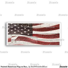 Patriotic Painted American Flag on Rustic Wood Texture Envelope #Gravityx9 #RedWhiteAndBlue1 -