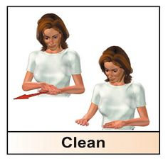 sign: CLEAN. Great for #EarthDay! #LearnSignLanguage with us #HearMyHands  www.hearmyhandsasl.com