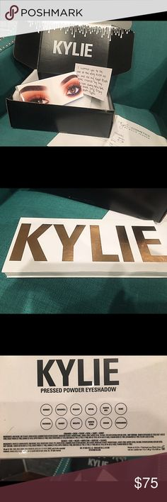 NEW AUTHENTIC Kylie Royal Peach Brand new, never even swatched, Kylie Royal Peach eyeshadow palette. Ordered on a whim and they're just not my colors  Will include EVERYTHING in main picture (palette, card, packing slip and original Kylie black box it was shipped in). Would like to trade for  UNUSED Kylie Valentine or Leo lip kit  Kylie Cosmetics Makeup Eyeshadow