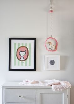Lesley Graham: Phoebe's Room Tour featuring Whiskers by J. Bartyn, Signed ABCs by ERAY, Heirloom Pear by Alexandra Stafford and Constellation by Annie Clark on http://www.minted.com/custom-art http://www.lesleywgraham.com/2014/03/phoebes-room-tour.html
