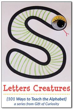 Kids make their own Letter Creatures in this activity that combines letter recognition with art and creativity! Alphabet Activities Kindergarten, Zoo Phonics, Jolly Phonics, Teaching The Alphabet, Science Activities For Kids, Preschool Learning, Literacy Activities, Educational Activities, Preschool Ideas
