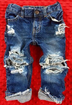KNOCK OUTS baby girl boy unisex toddler bleached by OliversDenim Toddler Jeans, Baby Jeans, Toddler Boy Outfits, Baby Kids Clothes, Kids Outfits, Fall Outfits, Baby Girl Fashion, Toddler Fashion, Kids Fashion