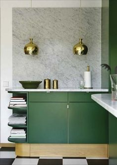 Emerald green and marble / Lark & Linen