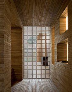 spiral housing / obra architects | glass blocks wall, block wall