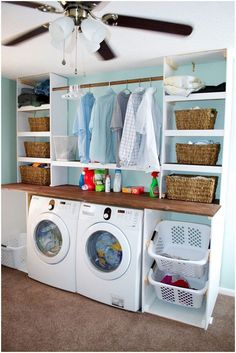 Laundry Storage Shelves Ideas 7