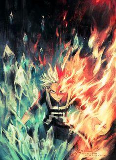 Todoroki Shouto-My hero academia Boku No Hero Academia, My Hero Academia Memes, Hero Academia Characters, My Hero Academia Manga, Anime Characters, Hero Manga, Chasseur De Primes, Manga Anime, Otaku Anime