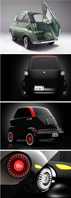 eSetta electric car inspired by the legendary BMW Isetta