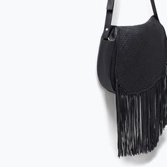 Image 5 of LEATHER MESSENGER BAG WITH FRINGES from Zara