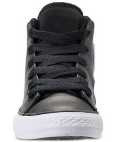 Converse Little Boys' Chuck Taylor All Star Official Mid Casual Sneakers from Finish Line - Black 2.5