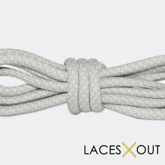 """Light Grey """"Rope"""" Laces - Woven Pattern Shoelaces - 50"""""""