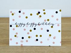 "Postkarte ""happyhappybirthday"", Konfetti von feierschick auf DaWanda.com"